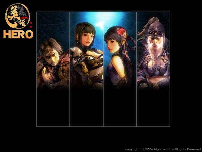 HERO-ONLINE action adventure fantasy mmo rpg fighting chaos hero online wallpaper