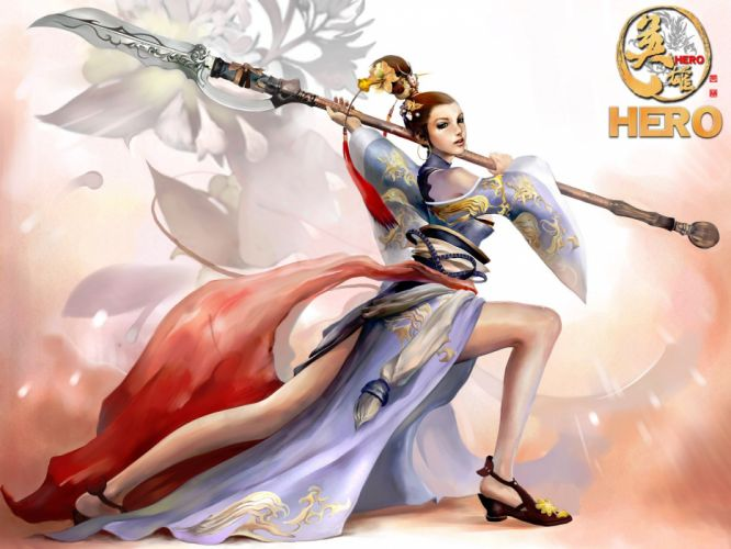 HERO-ONLINE action adventure fantasy mmo rpg fighting chaos hero online wallpaper