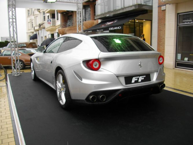 ferrari Ferrari FF FF 2+2 coupe supercars cars italia grey gris wallpaper