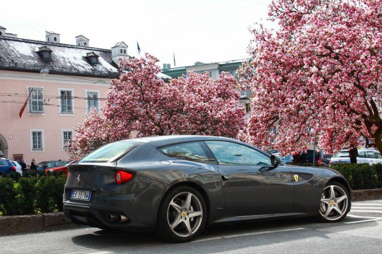 ferrari Ferrari FF FF 2+2 coupe supercars cars italia grey gris wallpaper