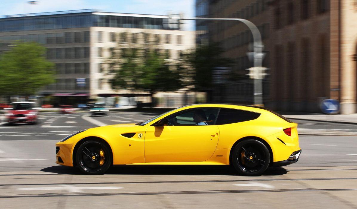 ferrari Ferrari FF FF 2+2 coupe supercars cars italia jaune wallpaper