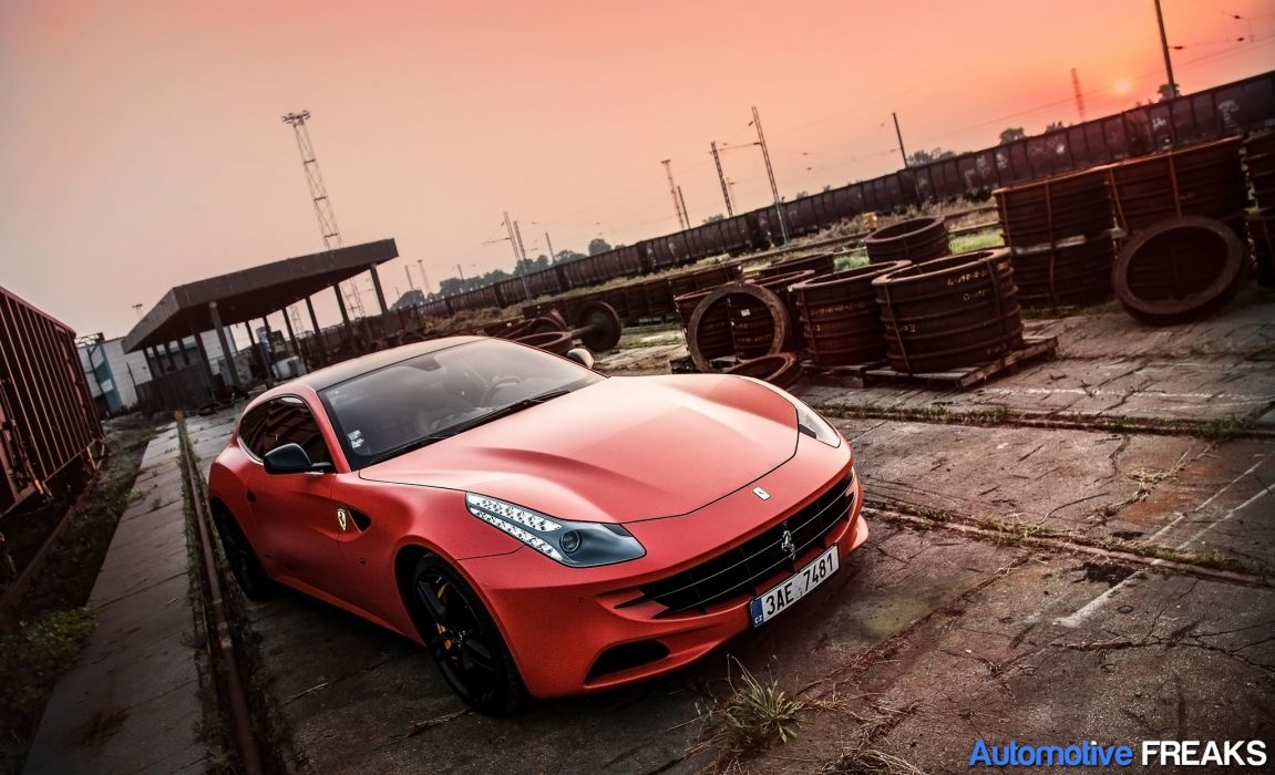 ferrari Ferrari FF FF 2+2 coupe supercars cars italia orange wallpaper