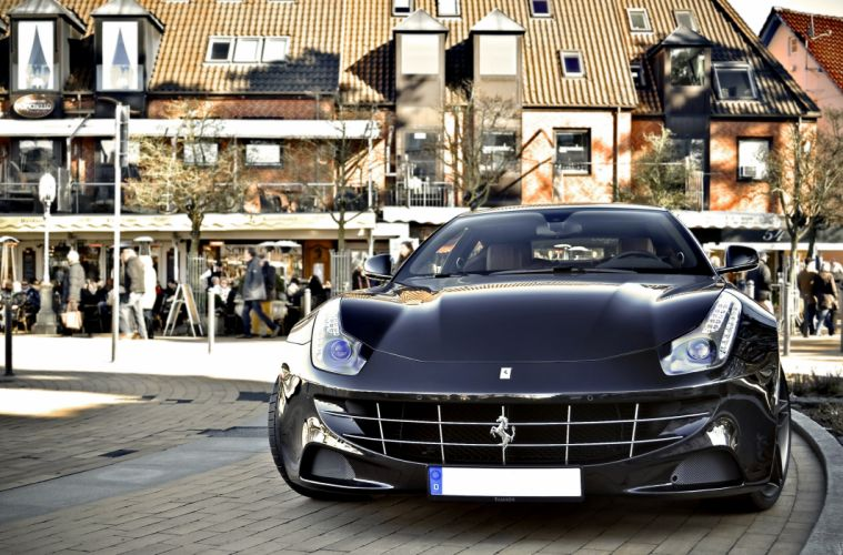 ferrari Ferrari FF FF 2+2 coupe supercars cars italia noir black wallpaper