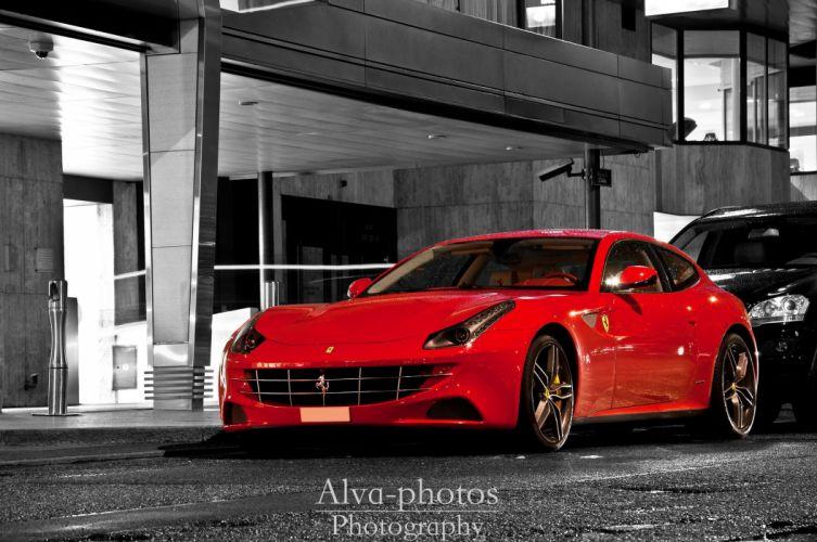 ferrari Ferrari FF FF 2+2 coupe supercars cars italia red rouge rosso wallpaper