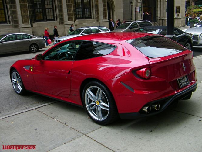 ferrari Ferrari FF FF 2+2 coupe supercars cars italia red rouge rosso wallpaper