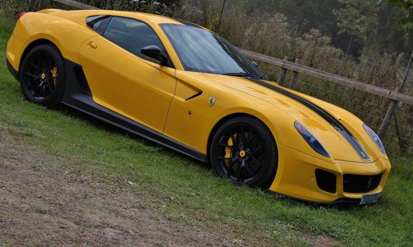 599 Ferrari GTO cars supercars coupe jaune yellow wallpaper
