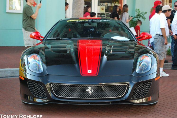 599 Ferrari GTO cars supercars coupe noir black wallpaper