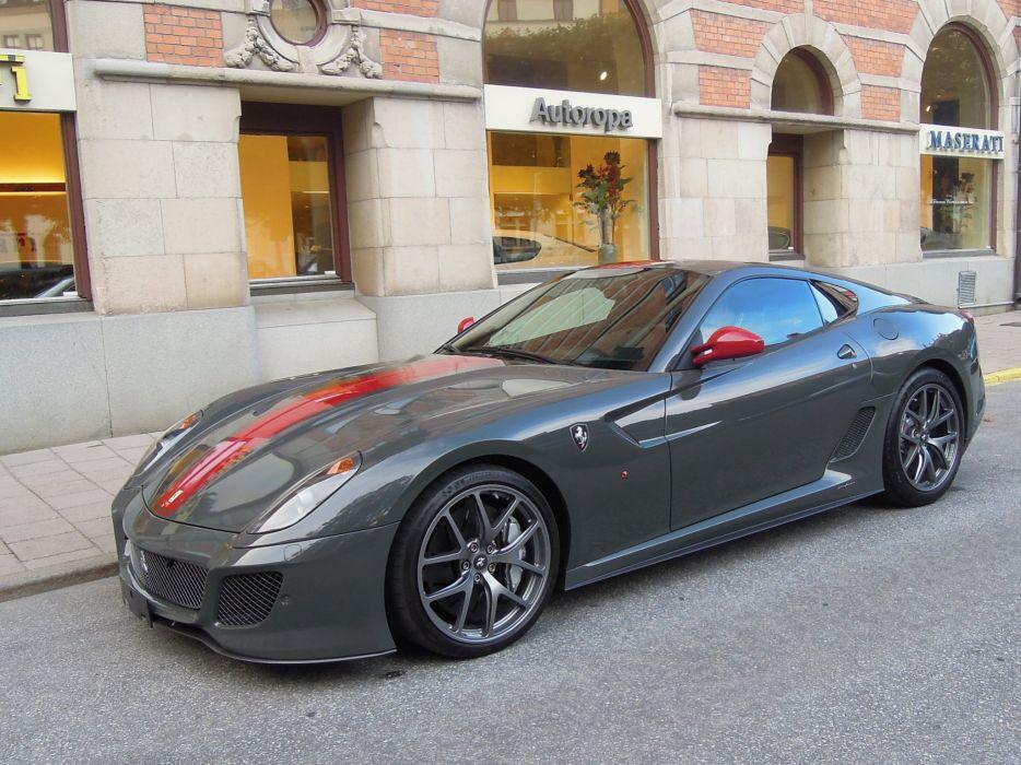 599 Ferrari GTO cars supercars coupe gris grey wallpaper