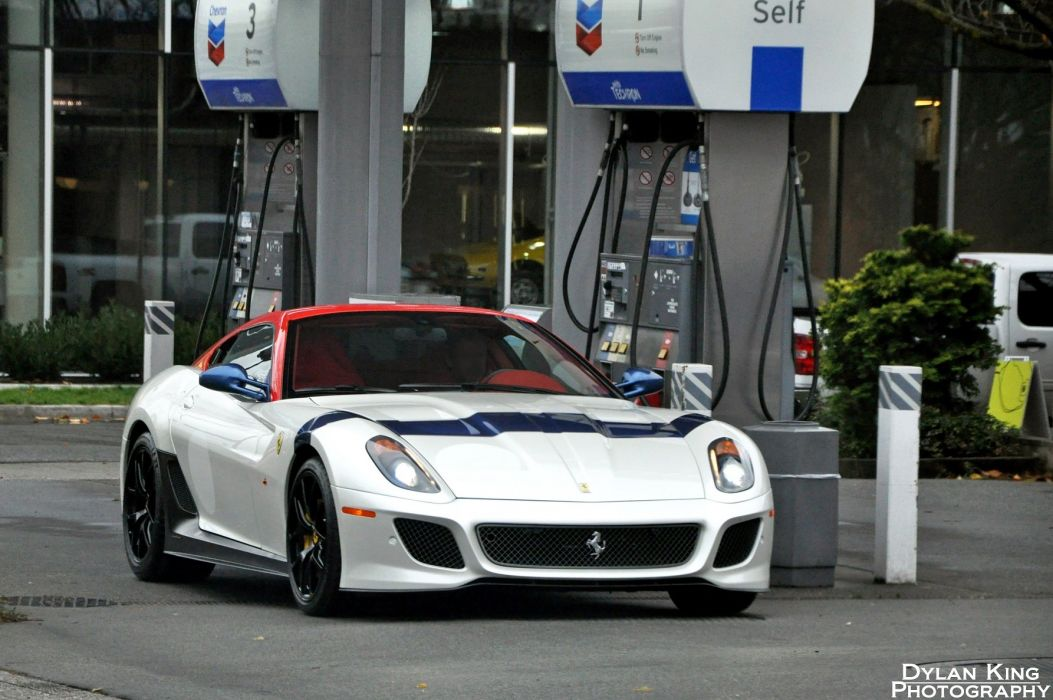 599 Ferrari GTO cars supercars coupe blanc white wallpaper