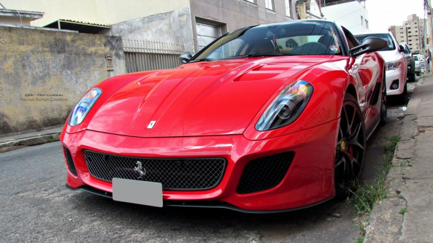 599 Ferrari GTO cars supercars coupe red rouge rosso wallpaper