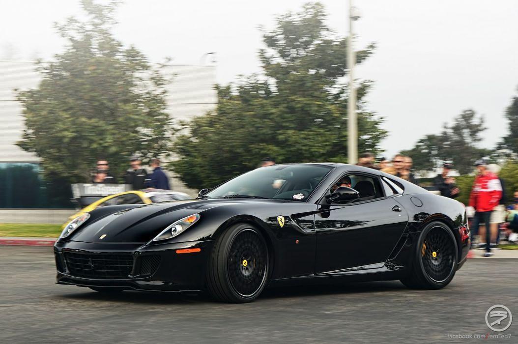 ferrari 599 gtb fiorano coupe cars supercars italia noir black wallpaper