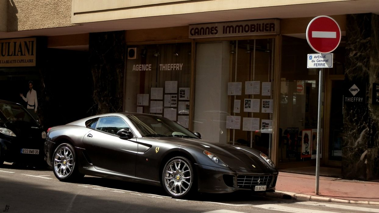 ferrari 599 gtb fiorano coupe cars supercars italia noir black wallpaper