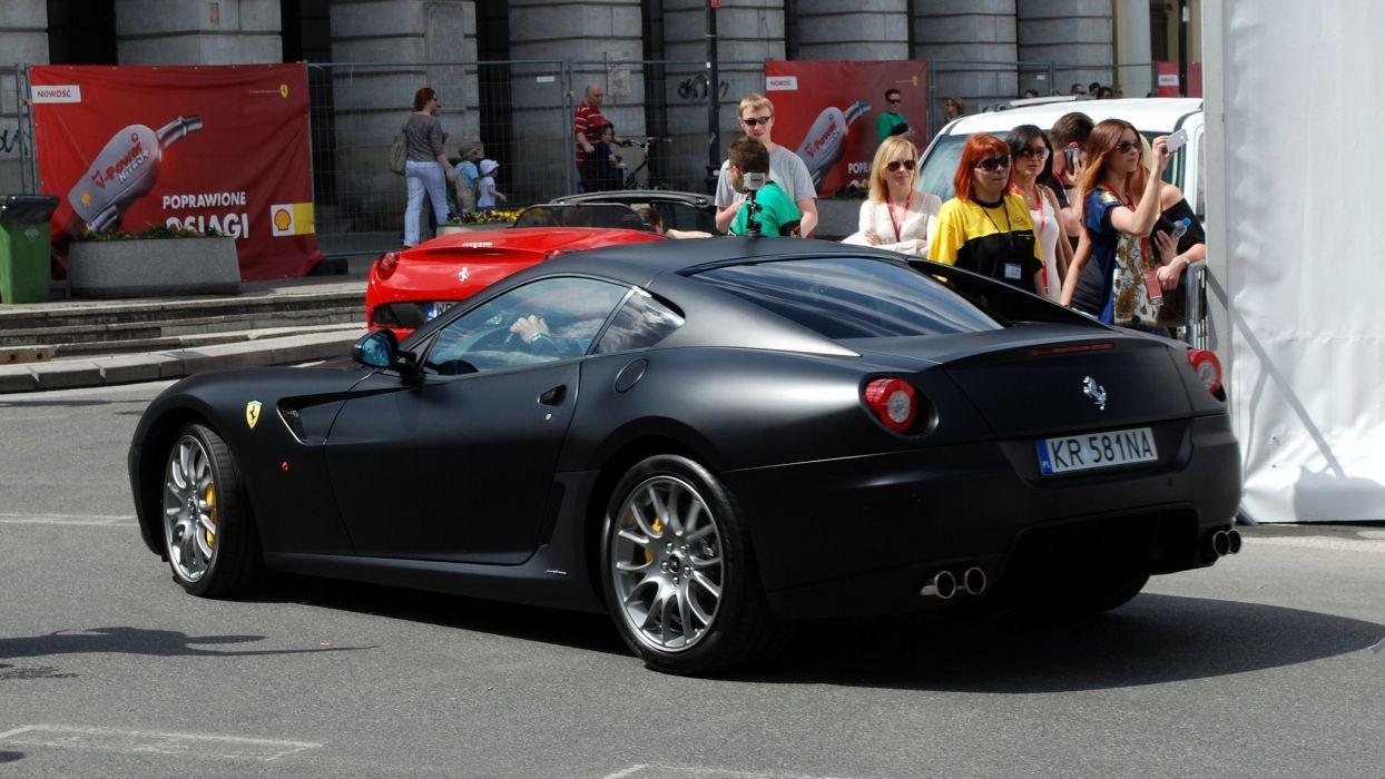 Ferrari 599 Gtb Fiorano Coupe Cars Supercars Italia Noir