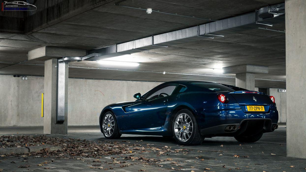 ferrari 599 gtb fiorano coupe cars supercars italia blu blue bleu wallpaper