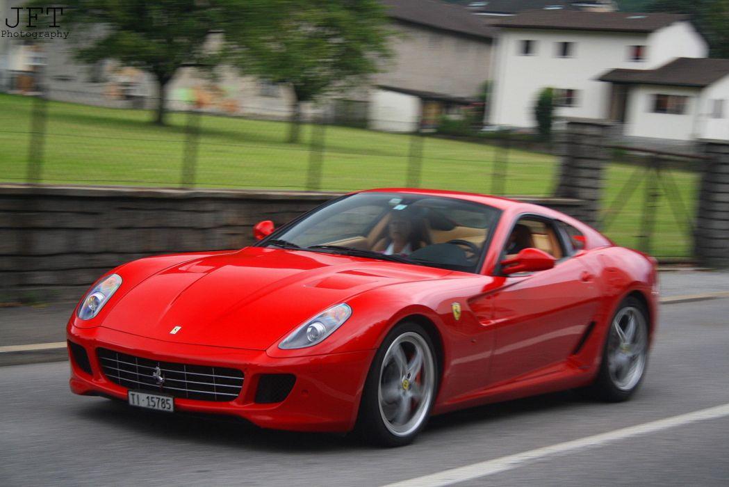 ferrari 599 gtb fiorano coupe cars supercars italia rouge red rosso wallpaper