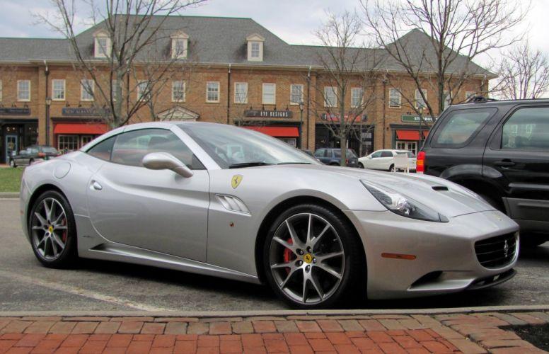 Ferrari California convertible supercars cars cabriolet italia gris grey wallpaper