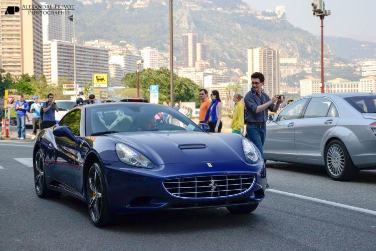 Ferrari California convertible supercars cars cabriolet italia black blue blu bleu wallpaper
