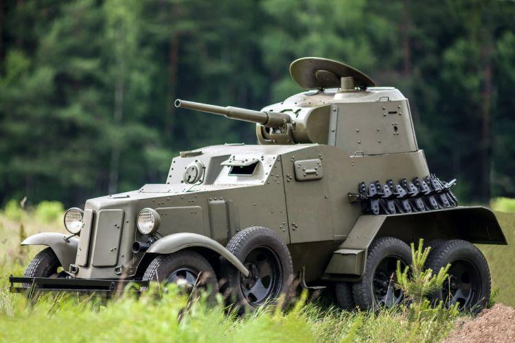 1938 GAZ BA10 6x6 military apc weapon retro russian wallpaper