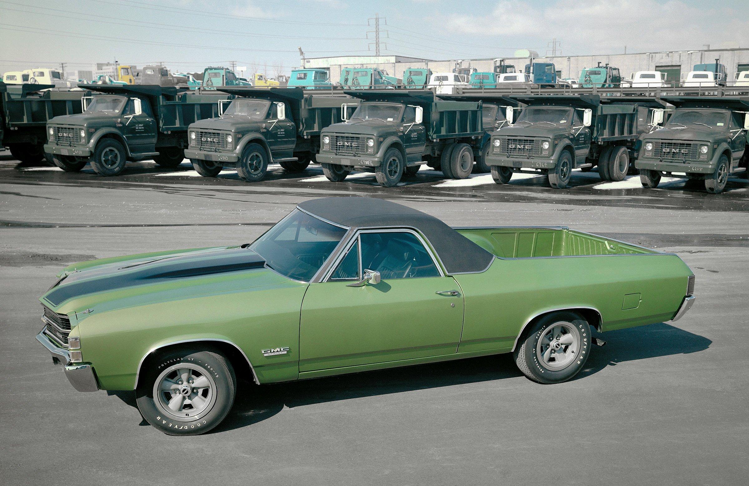 1971 Gmc Sprint 454 Sedan Pickup Classic Muscle Wallpaper