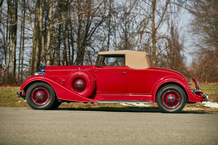 1934 Packard Eight Coupe Roadster 1101-719 luxury retro wallpaper