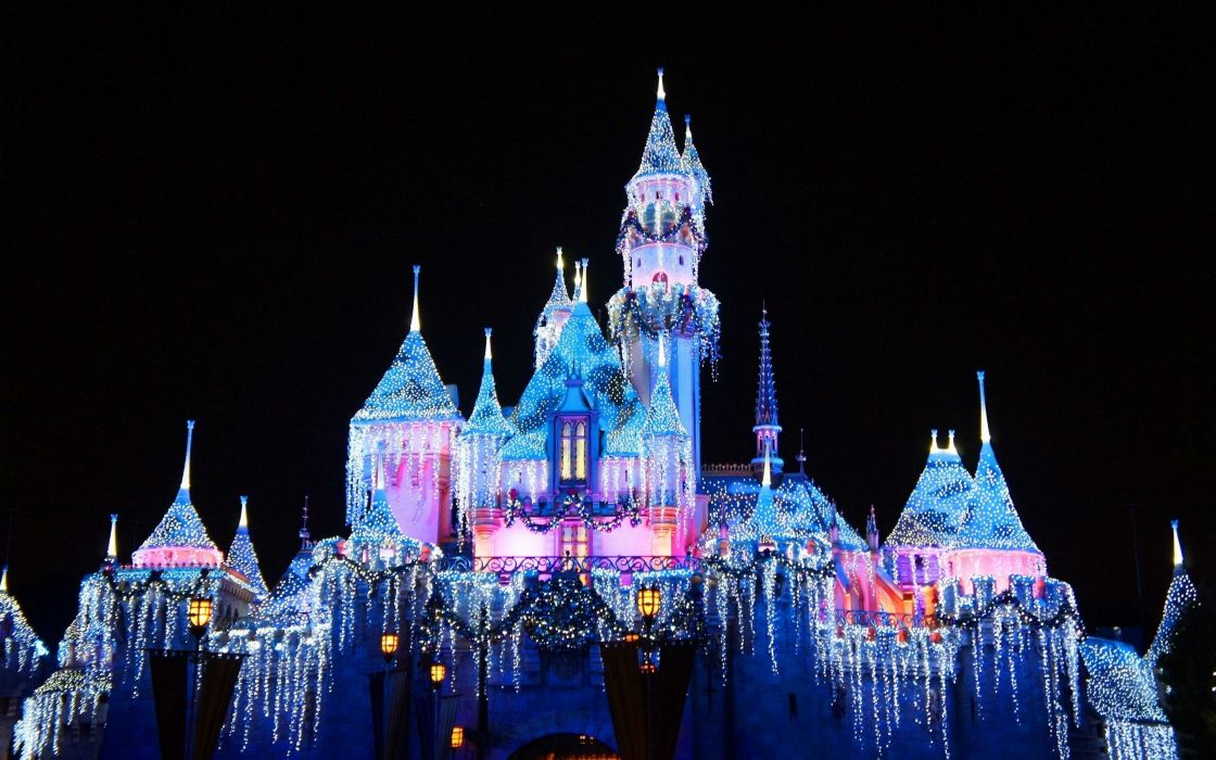 Christmas Holiday Disney Castle Wallpaper 2560x1600