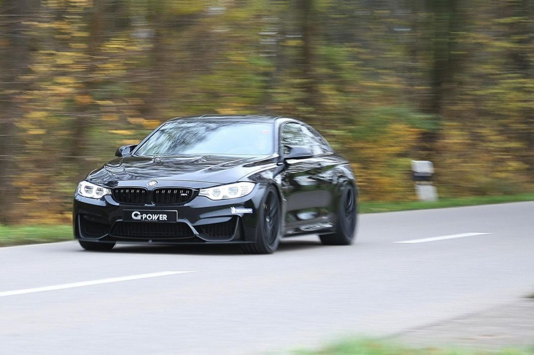 BMW M4 Coupe tuning G-Power black cars wallpaper
