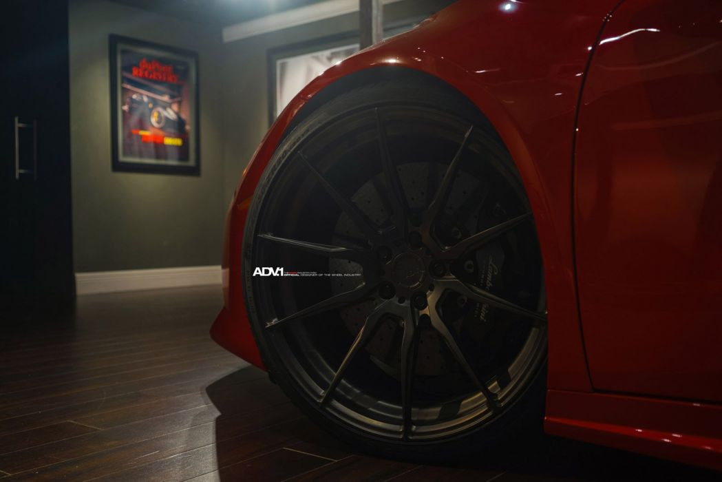 2014 adv1 wheel tuning LAMBORGHINI HURACAN coupe cars supercars red wallpaper