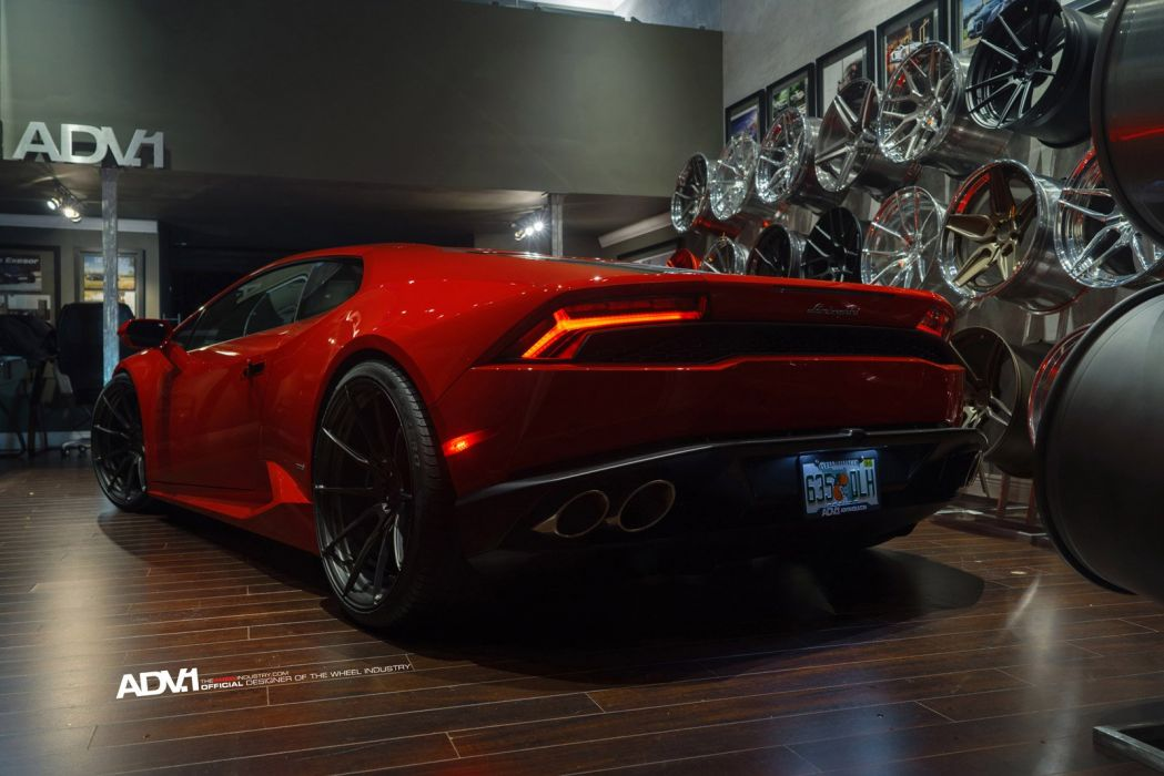 2014 adv1 wheel tuning LAMBORGHINI HURACAN coupe cars supercars red wallpaper