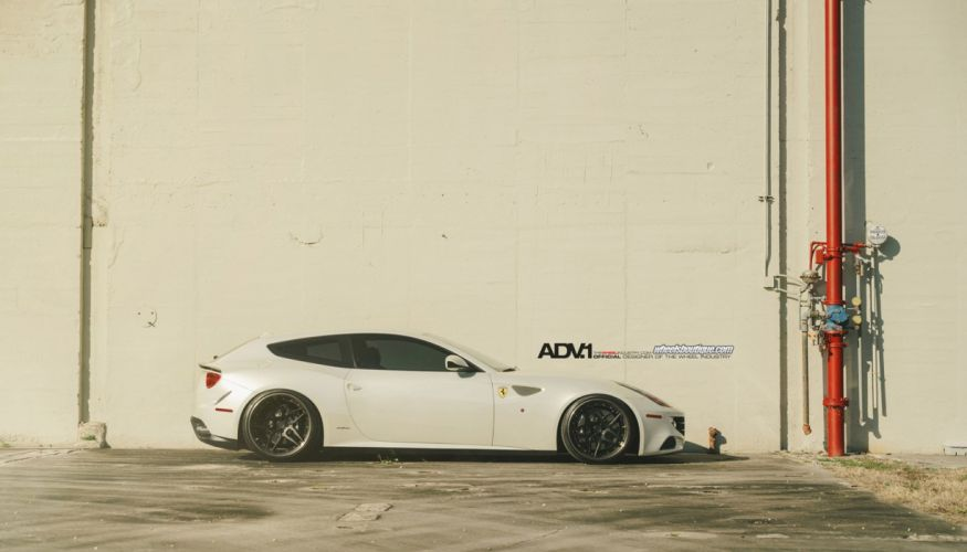 2014 adv1 wheel tuning ferrari ff 2+2 cars supercars white wallpaper
