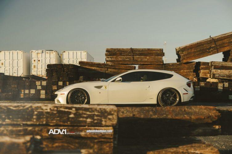 2014 adv1 wheel tuning ferrari ff 2+2 cars supercars white wallpaper