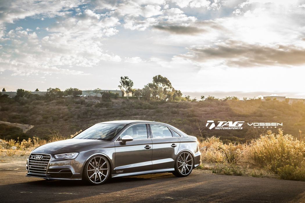 2014 vossen wheel tuning audi s3 cars sedan grey wallpaper