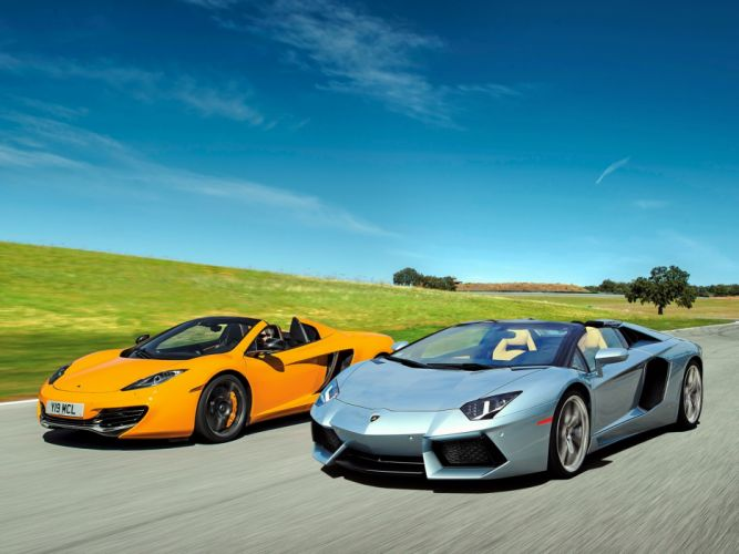 mc laren mp4 lamborghini aventador lp700-4 car wallpaper