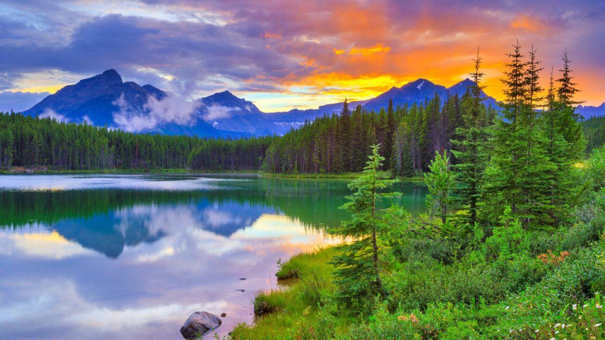 Herbert Lake Banff National Park Alberta wallpaper
