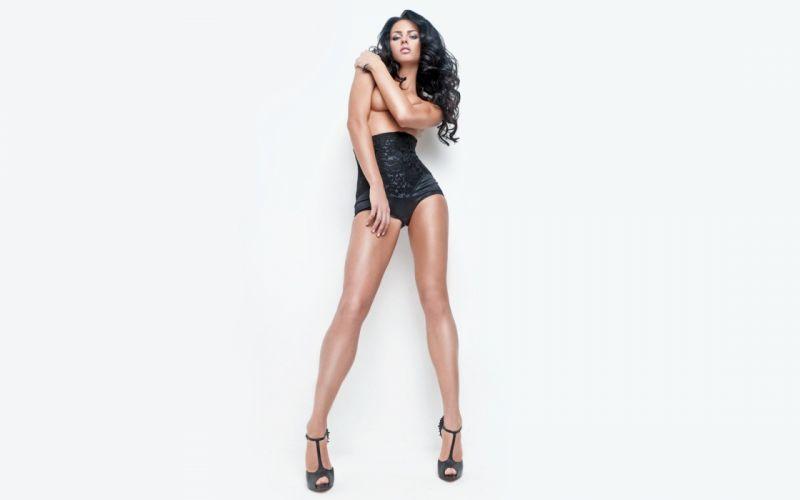SENSULITY - katerina Bazhenova celebrity sensuous brunette girl legs wallpaper
