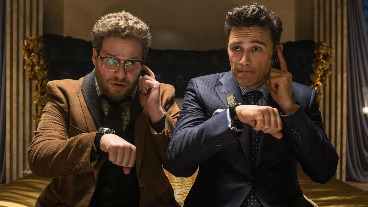 THE INTERVIEW political action comedy politics wallpaper