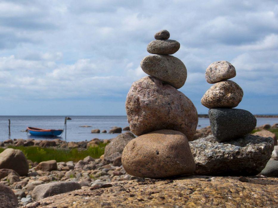 macro pebbles Stones nature beach sea textures wallpaper