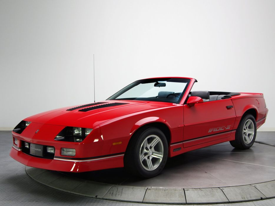 1988aei90 Chevrolet Camaro IROC-Z Convertible muscle iroc wallpaper