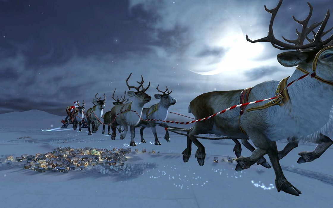 CHRISTMAS holiday reindeer wallpaper