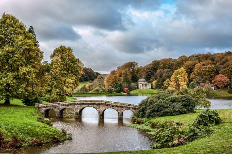 Stourhead Wiltshire England stourhead lake autumn landscape wallpaper