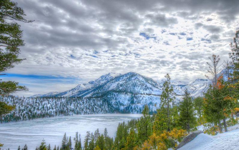 Lake Tahoe California Nevada autumn winter d wallpaper