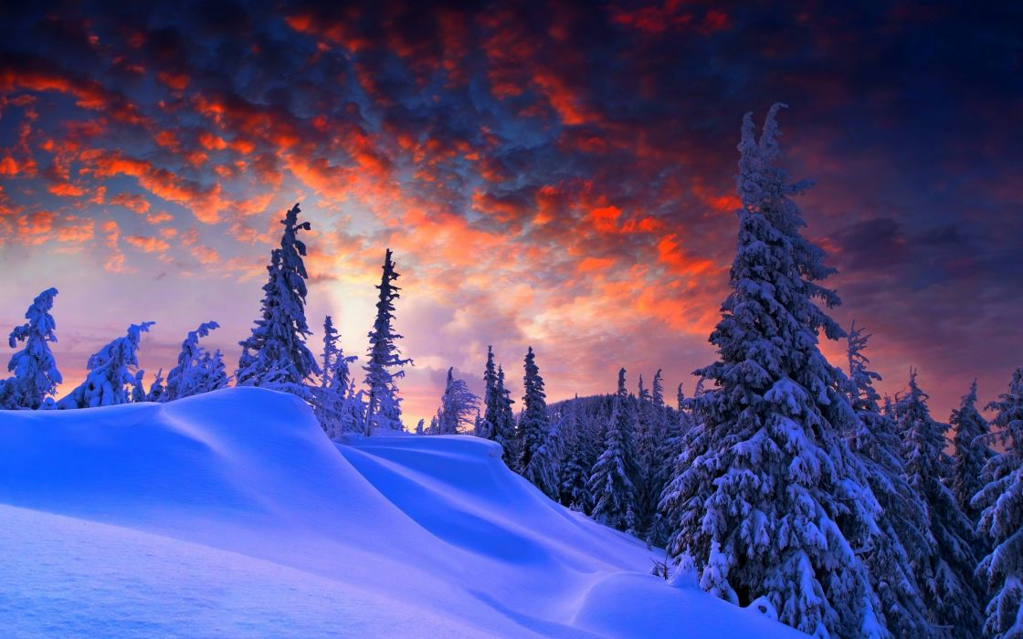 mountain clouds sky nature snow winter wallpaper
