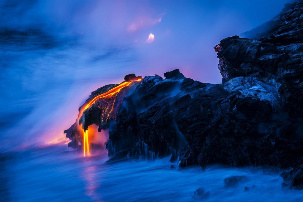 Nature rocks lava magma sea water volcano wallpaper  1920x1280  559638  WallpaperUP