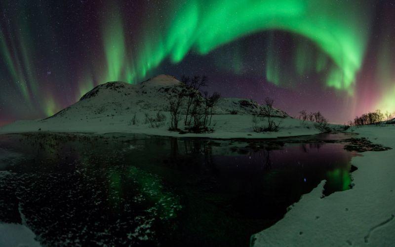 aurora borealis night northern lights wallpaper
