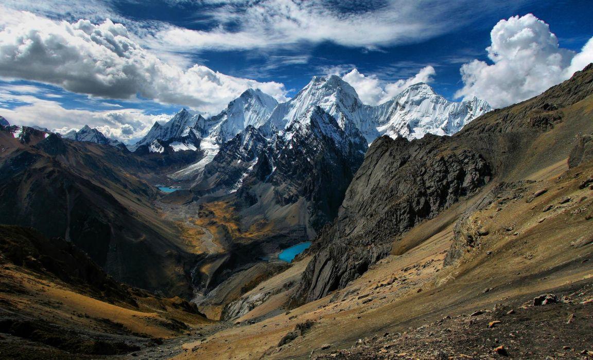 mountains landscape Huancayo Peru wallpaper