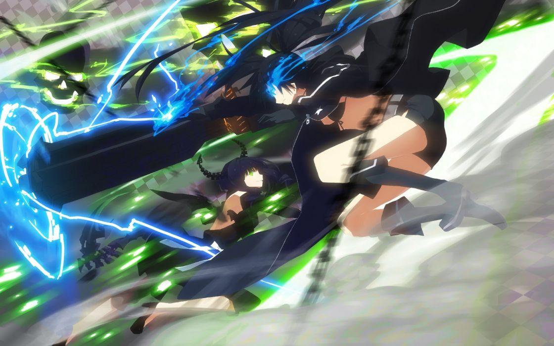 Black Rock Shooter anime girl beauty lovely wallpaper