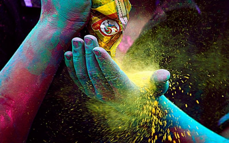 Colored powder of Holi the Festival of Colors India Photos wallpaper