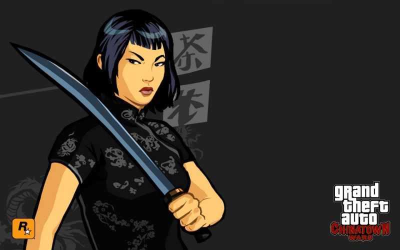 GTA grand theft auto chinatown wars video game Ling Shan girl beauty wallpaper