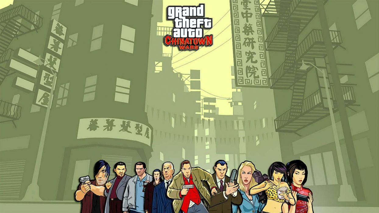 Gta Grand Theft Auto Chinatown Wars Video Game Characters Wallpaper