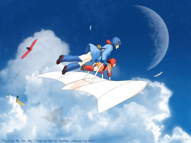 NAUSICAA-VALLEY-WIND anime fantasy adventure nausicaa valley wind wallpaper