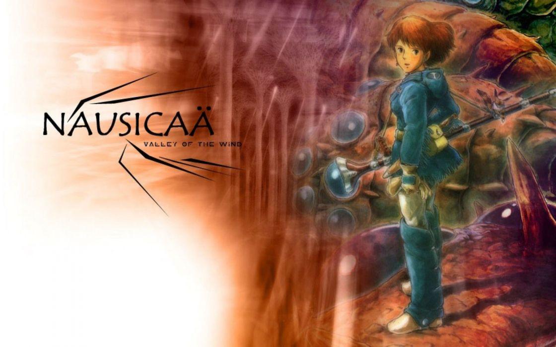 NAUSICAA-VALLEY-WIND anime fantasy adventure nausicaa valley wind wallpaper